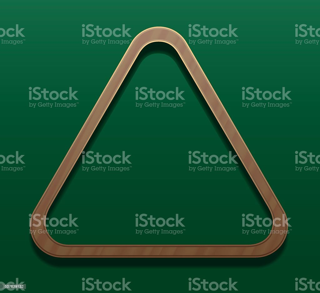 Billiard Rack Wooden Triangle vector art illustration