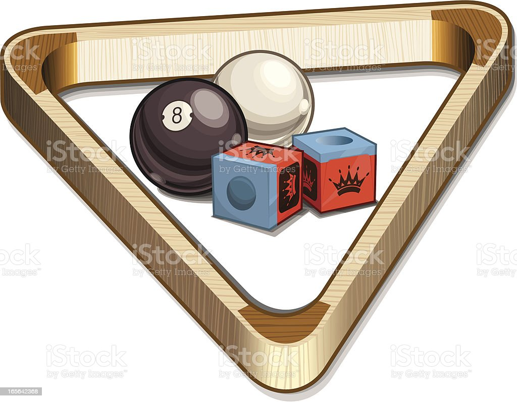 Billiard Supplies royalty-free stock vector art