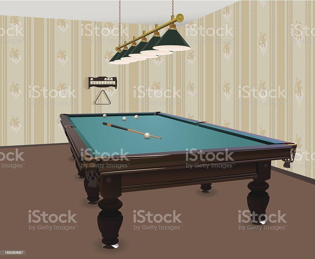 Billiards Room vector art illustration