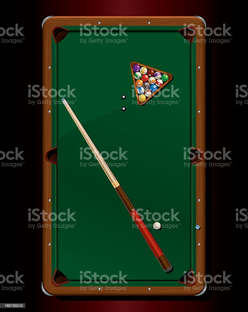 Billiards Table, Top View royalty-free stock vector art
