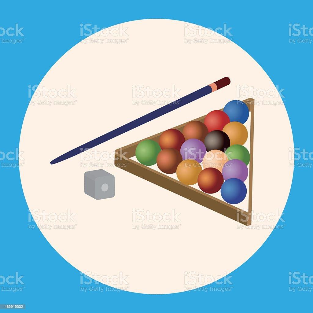 Billiards theme elements vector art illustration