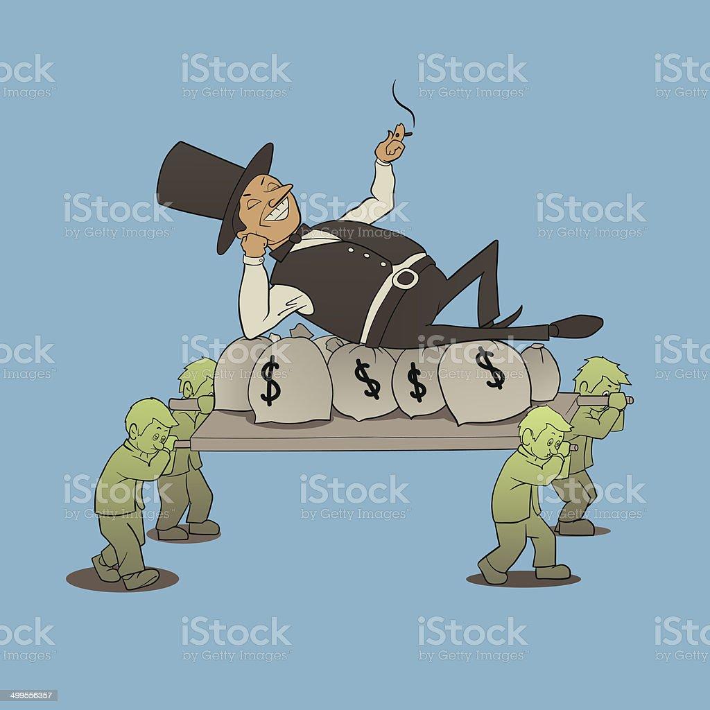 billionaire boss vector art illustration