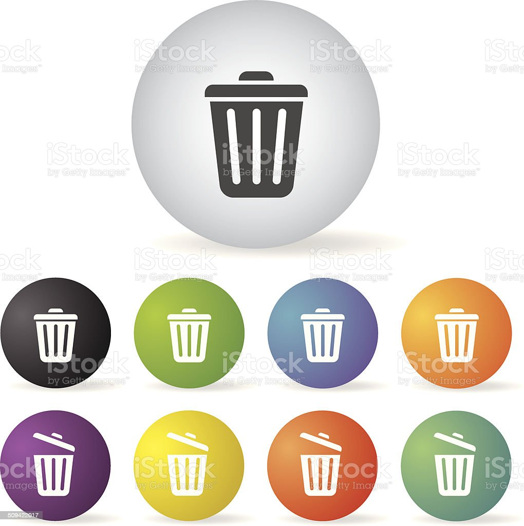 bin icon set royalty-free stock vector art