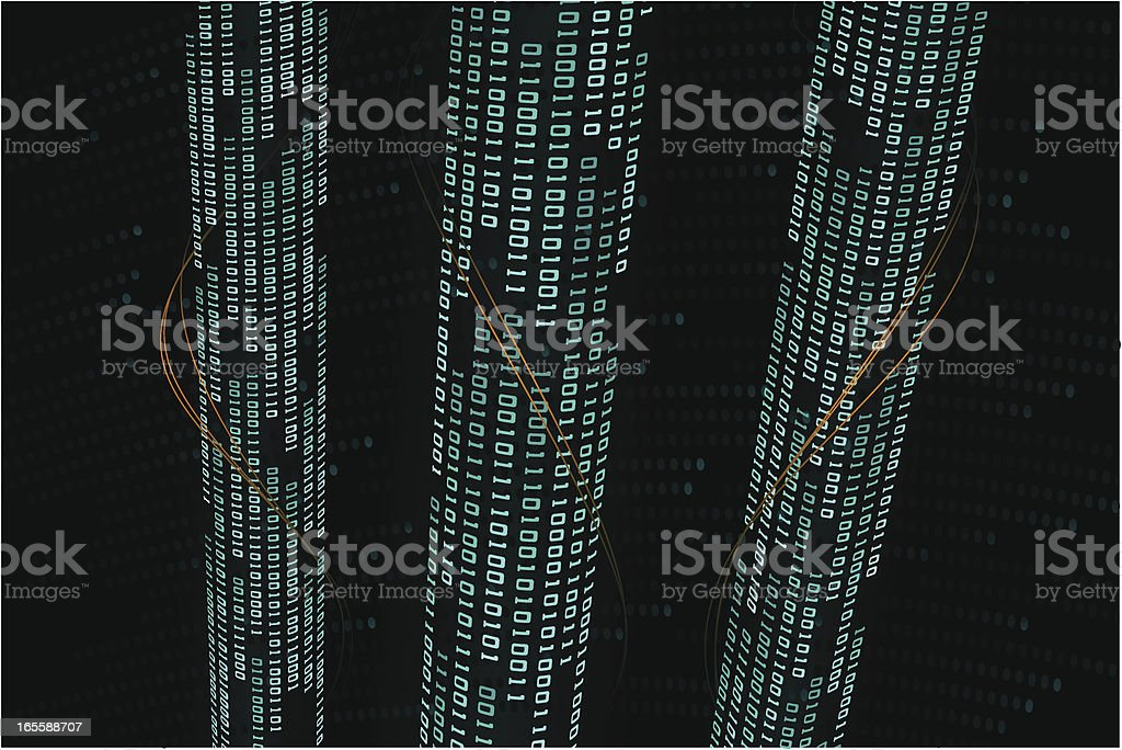 binary code _ information channel royalty-free stock vector art