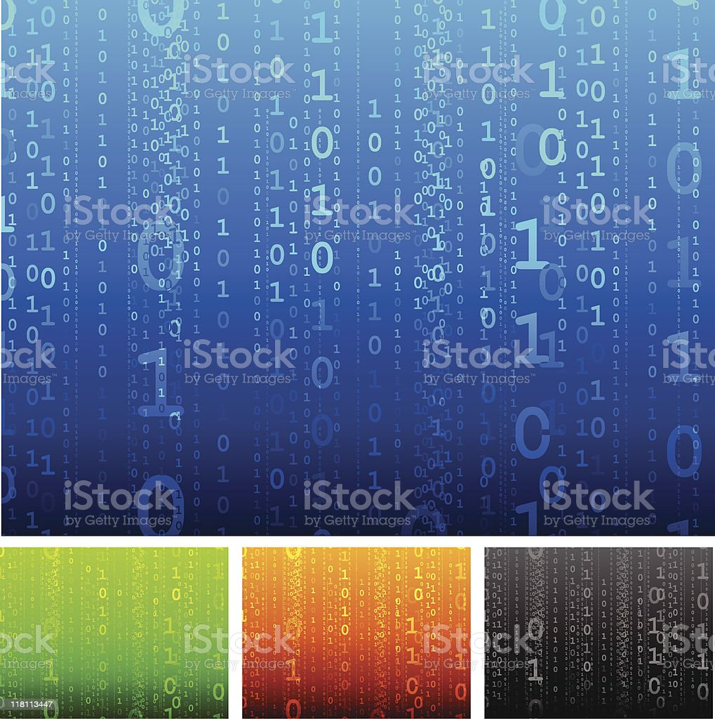 binary code multi color internet background vector art illustration