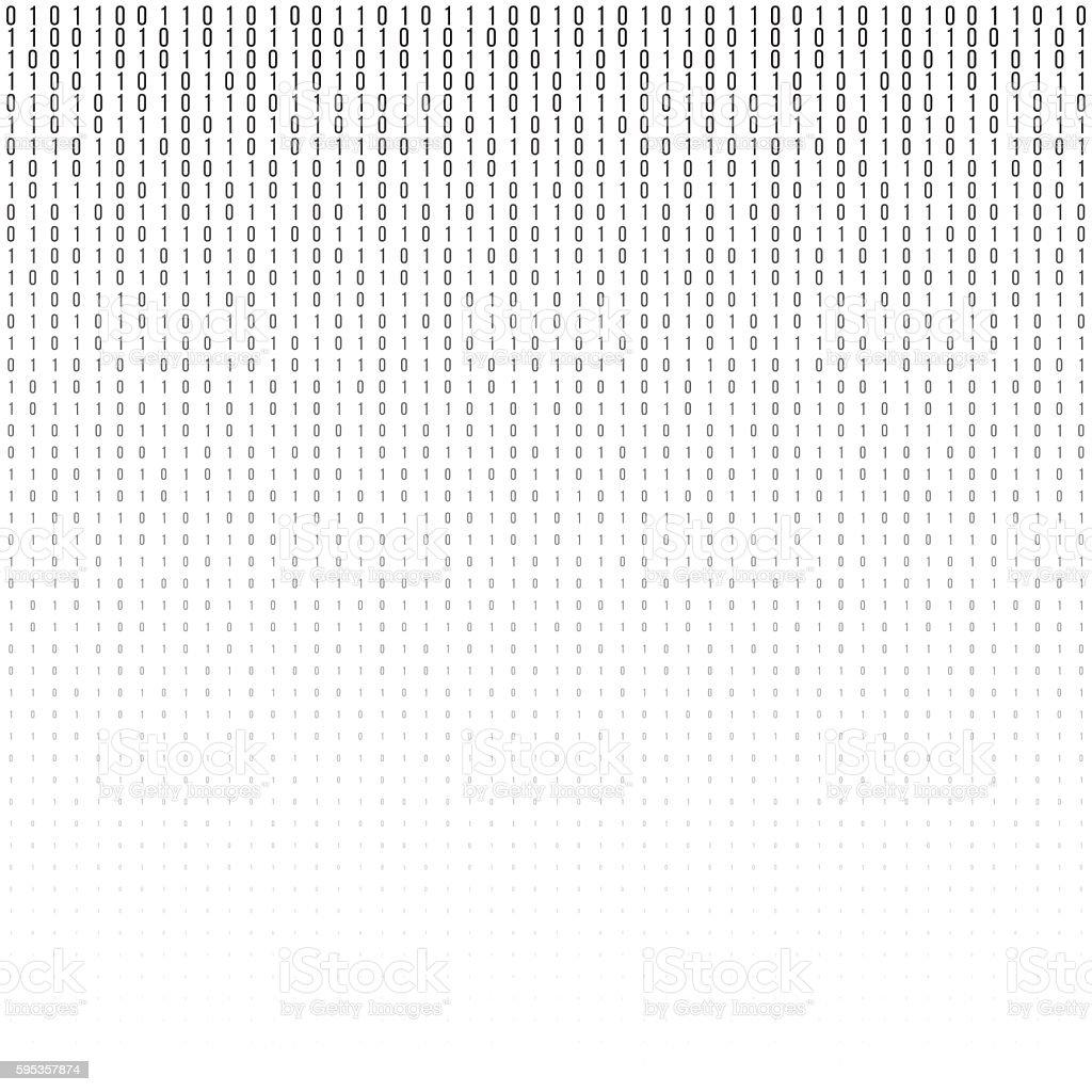 Binary code vector halftone texture. vector art illustration