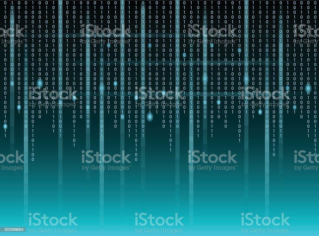 Binary code vector art illustration