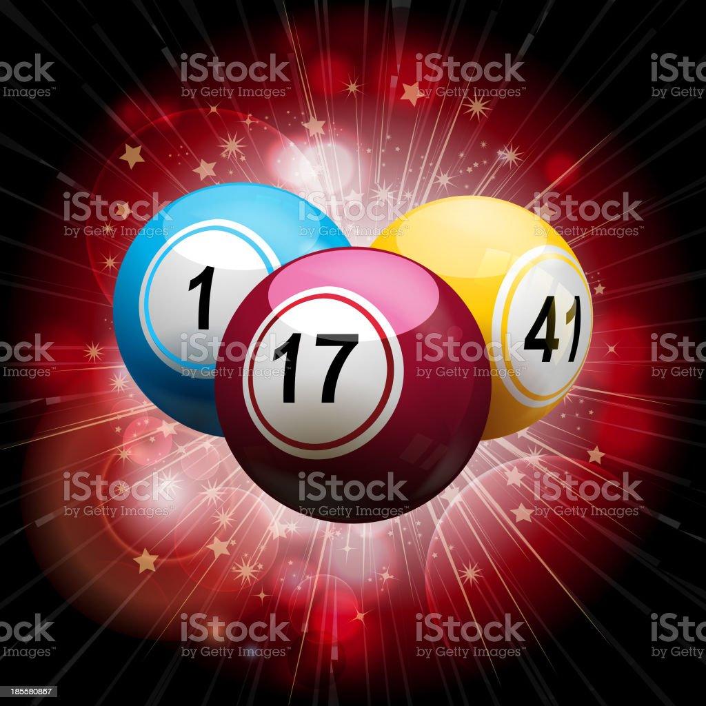 bingo ball explosion on red royalty-free stock vector art