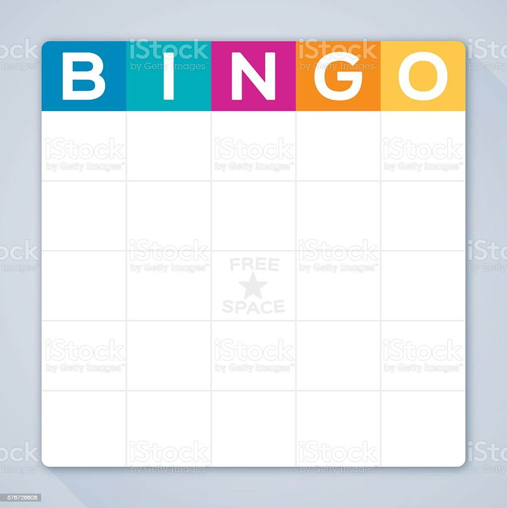 Bingo Card vector art illustration