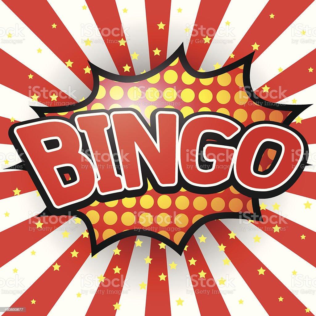 Bingo, Comic Speech Bubble. Vector illustration. vector art illustration