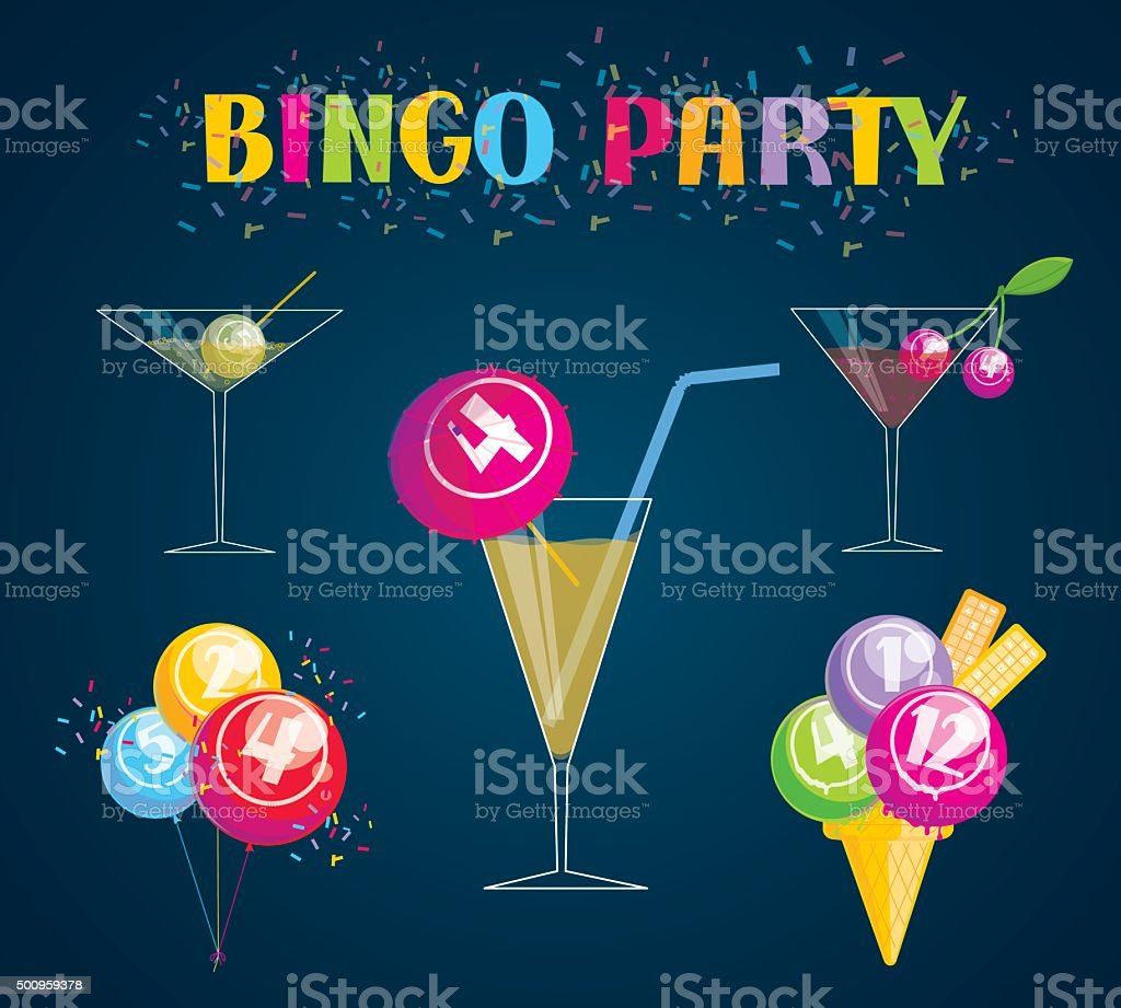 Bingo Party vector art illustration