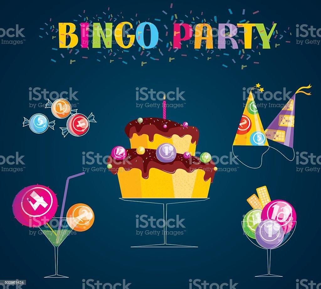 Bingo Party vector art illustration