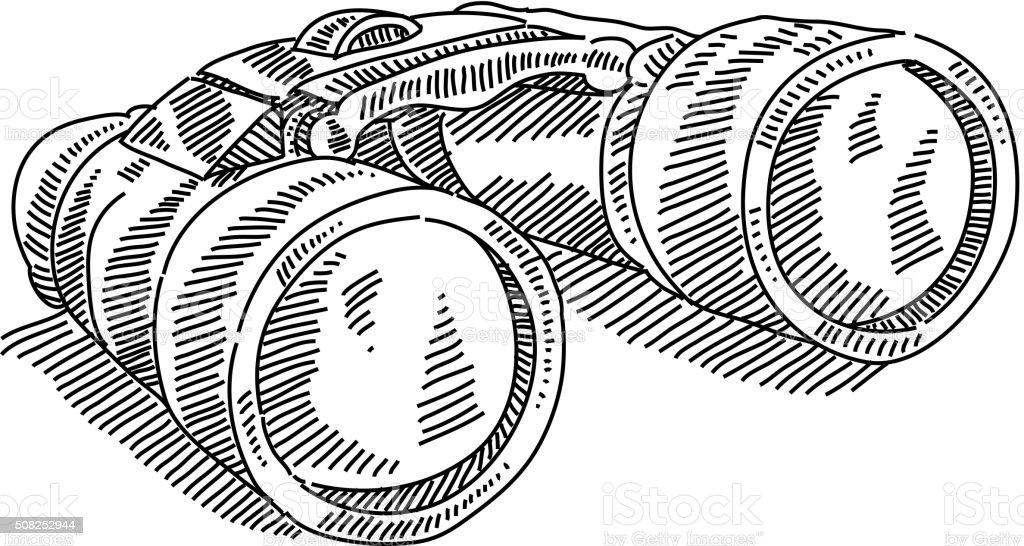 Binocular vector art illustration
