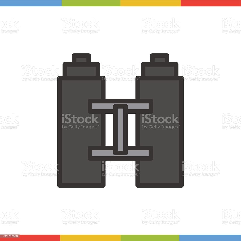 Binoculars color icon. Isolated illustration vector art illustration