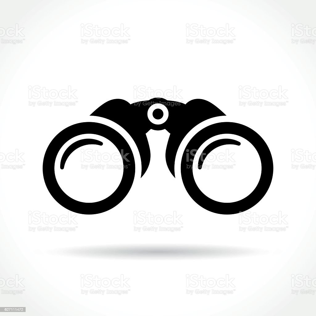 binoculars icon on white background vector art illustration