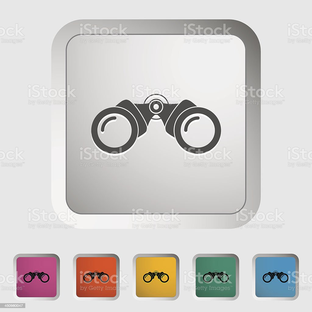 Binoculars icon royalty-free stock vector art