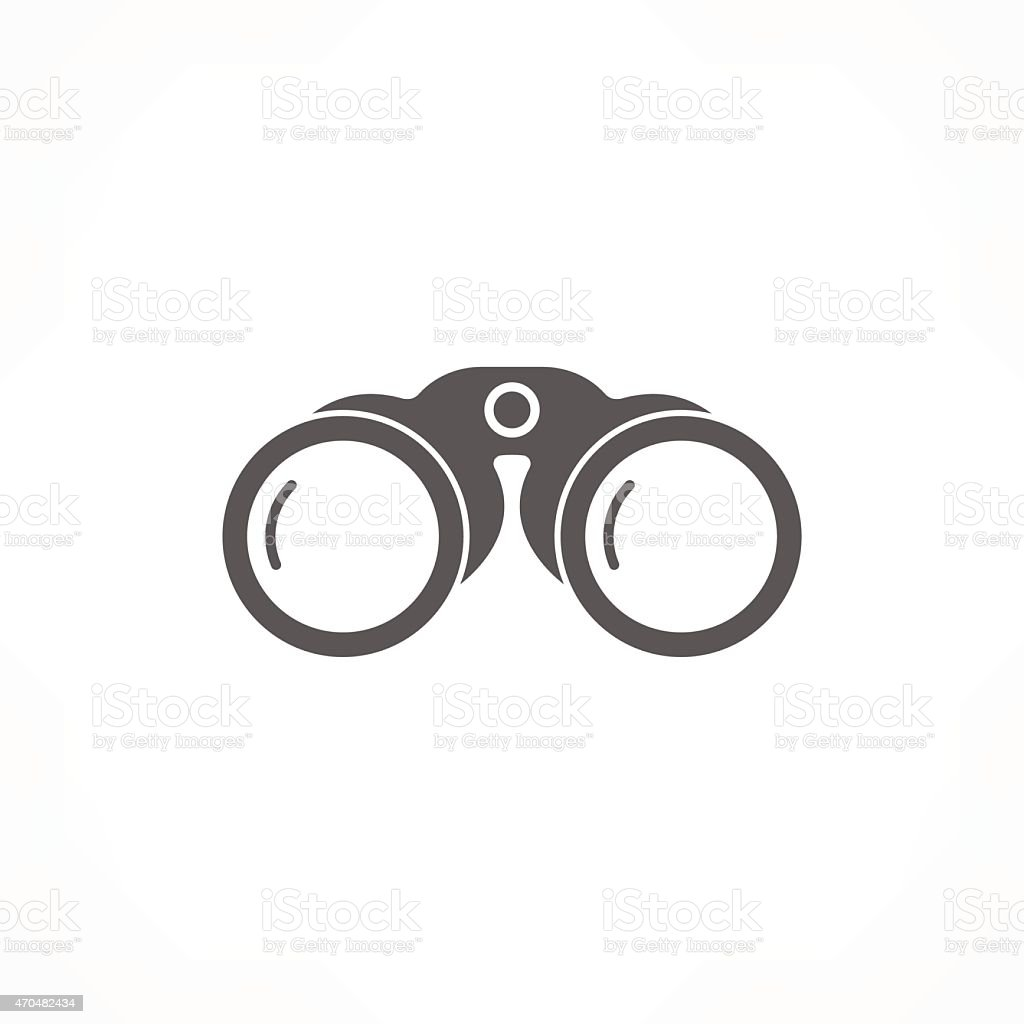 binoculars icon vector art illustration
