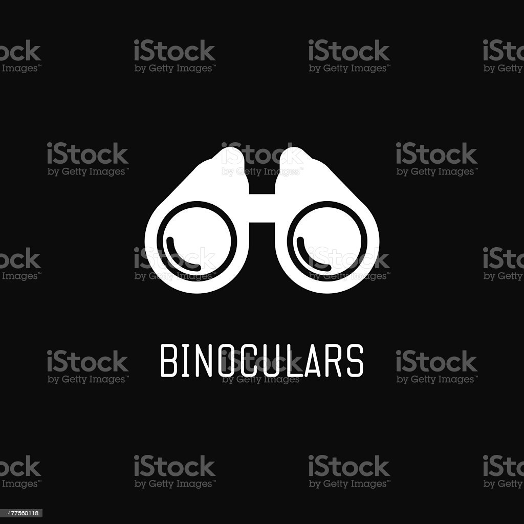 Binoculars icon vector art illustration
