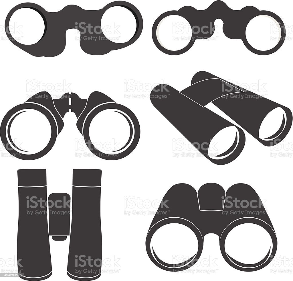 Binoculars icons vector art illustration