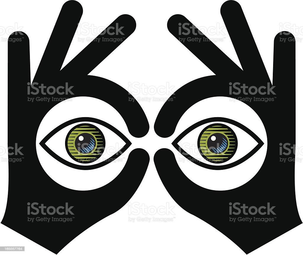 Binoculars royalty-free stock vector art