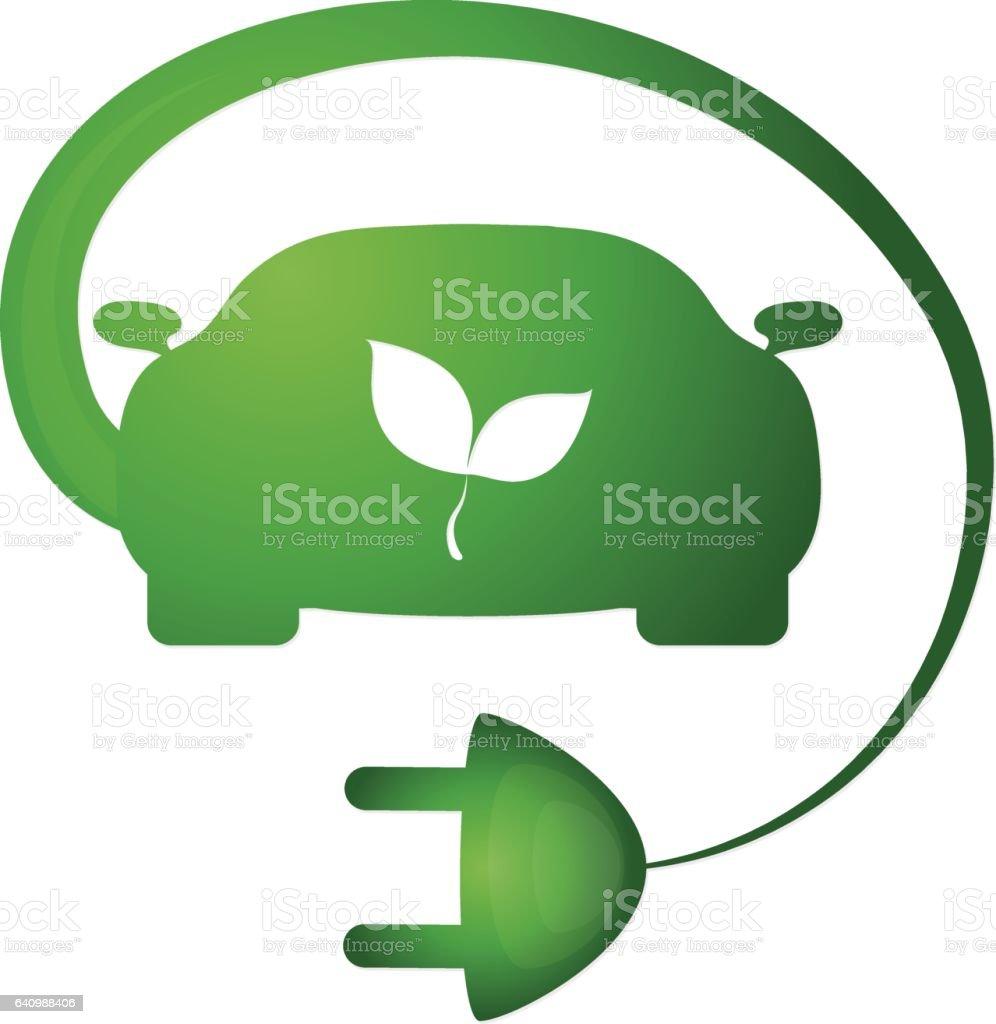 Bio car vector vector art illustration