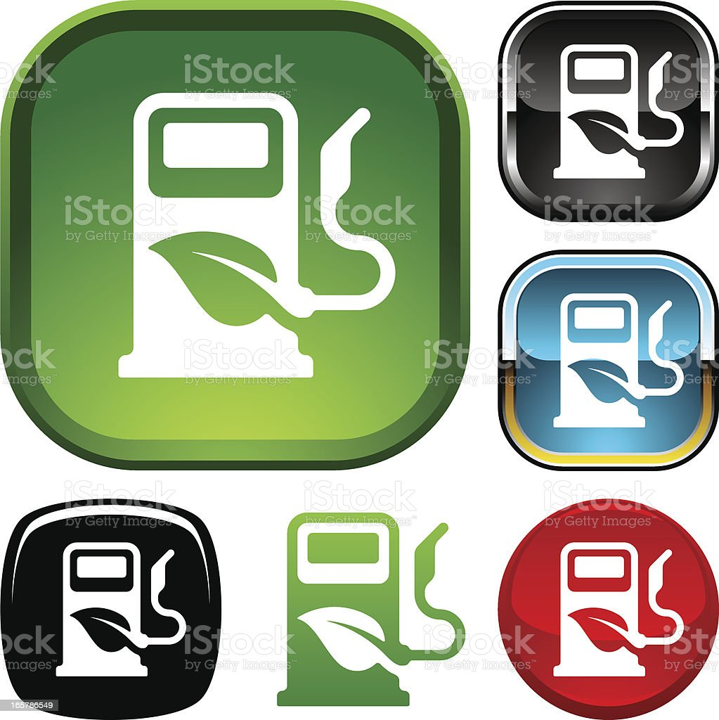 Bio fuel icon royalty-free stock vector art