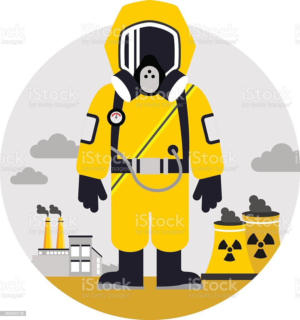 Bio hazard protection concept vector art illustration