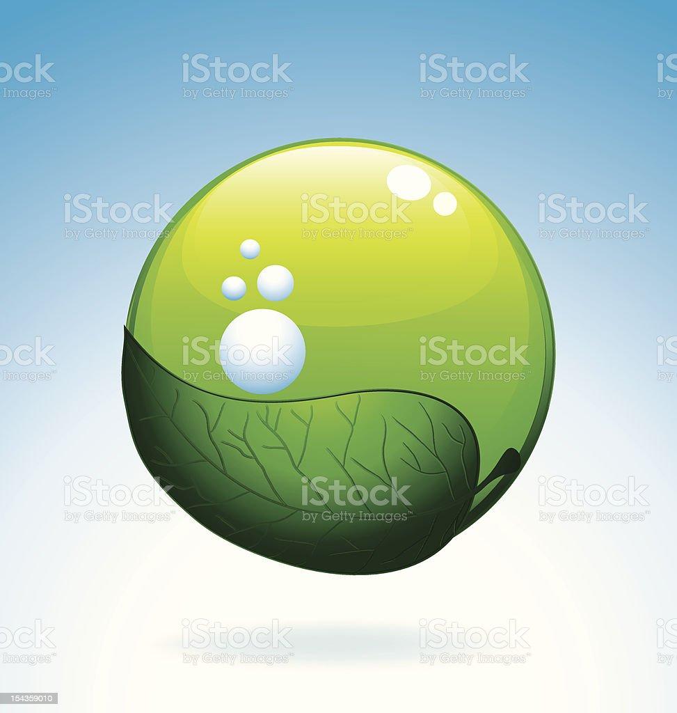 Bio oxygen icon royalty-free stock vector art