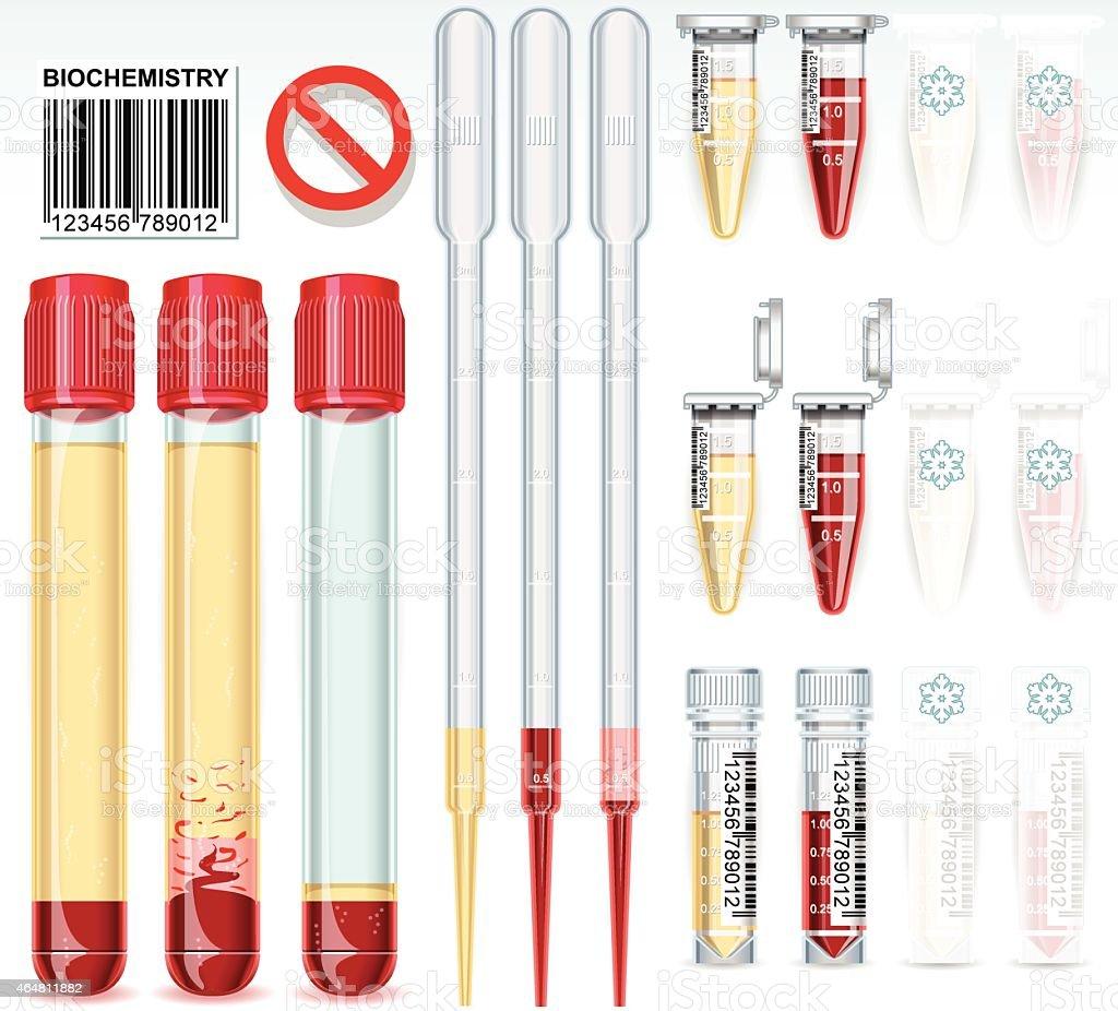 Biochemistry Test Complete Set vector art illustration