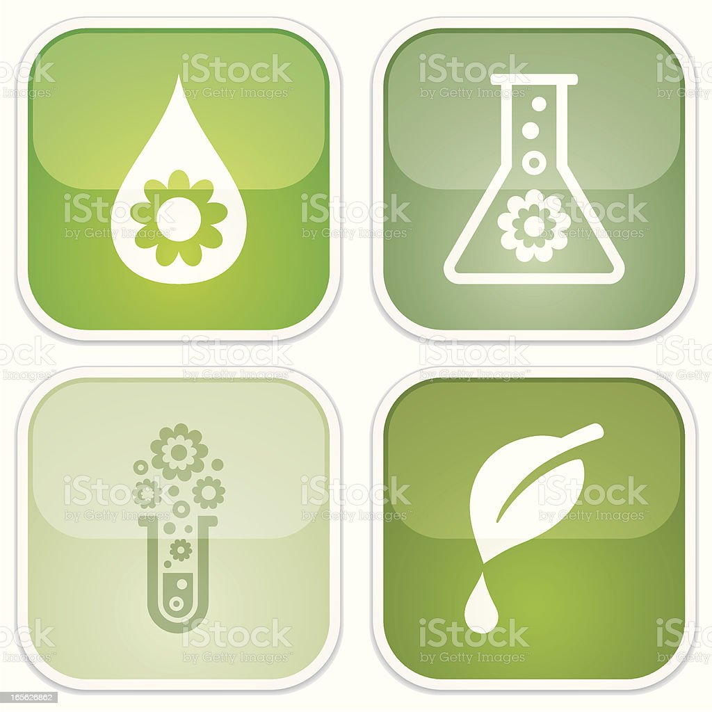 biodegradable symbols - Eco Glossy vector art illustration