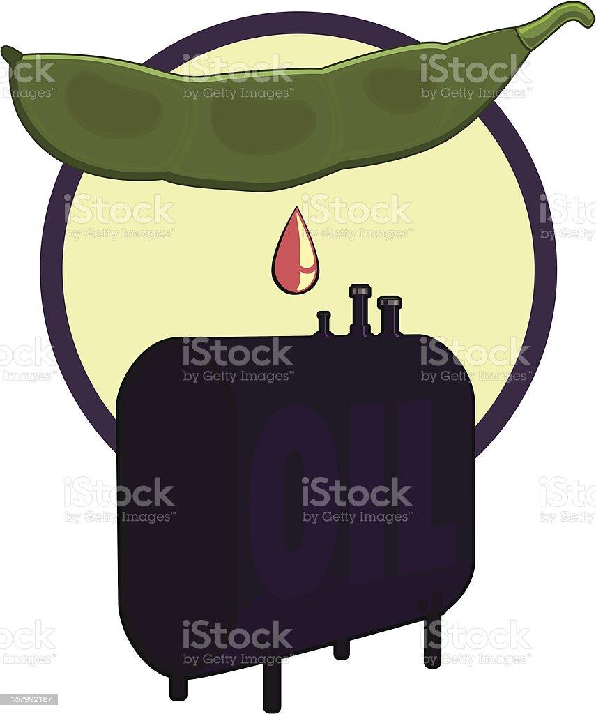 Biofuel vector art illustration