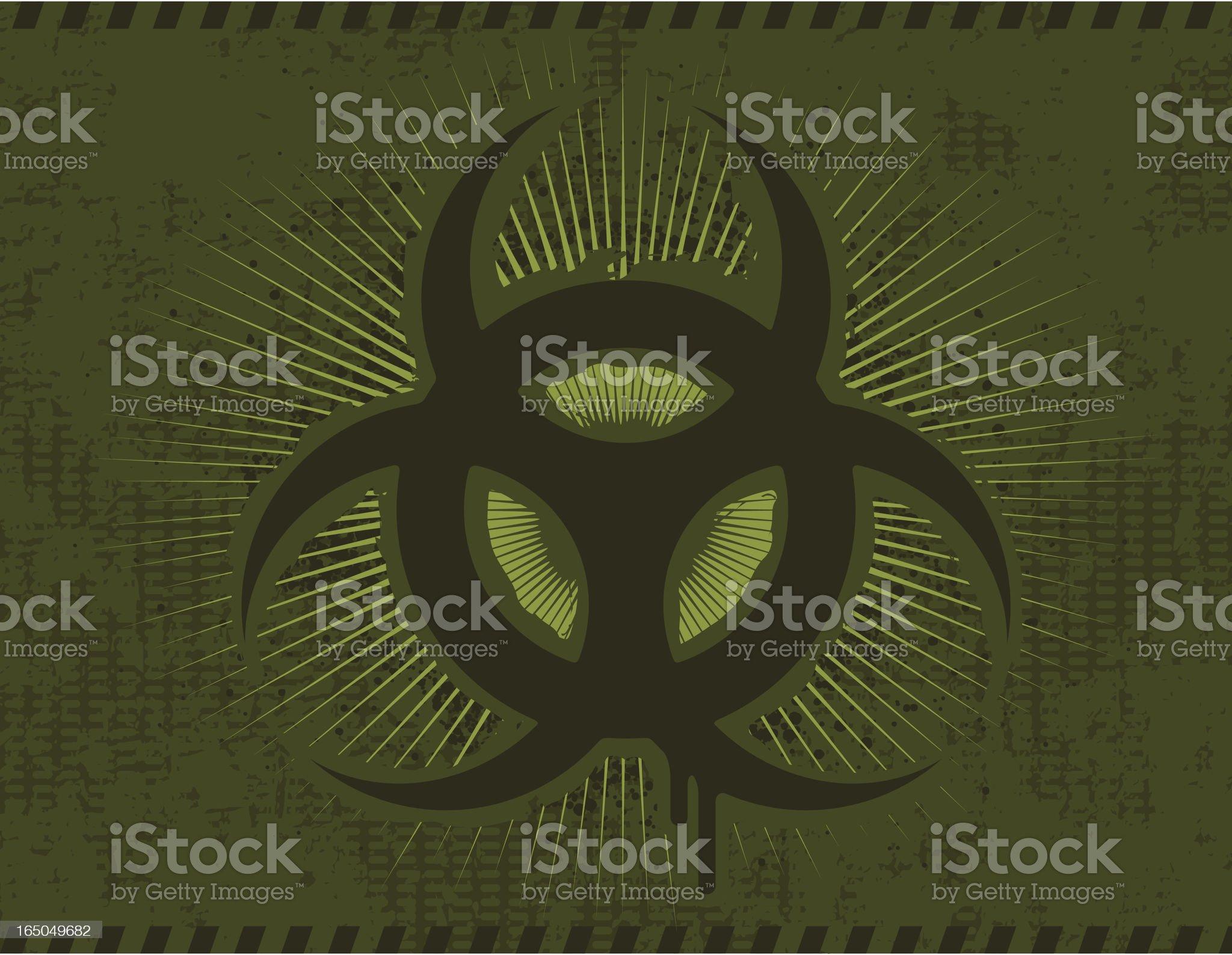 Biohazard Background royalty-free stock vector art