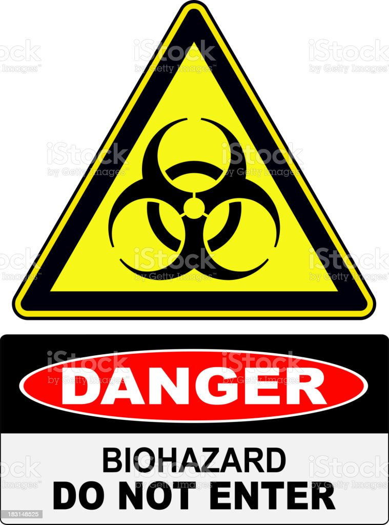 Biohazard danger sign royalty-free stock vector art