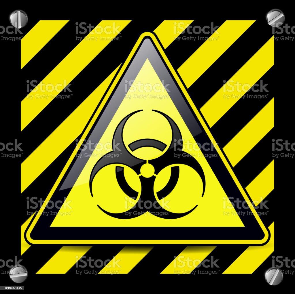 Biohazard danger sign royalty-free stock vector art