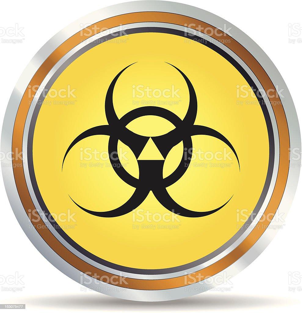 Biohazard icon royalty-free stock vector art