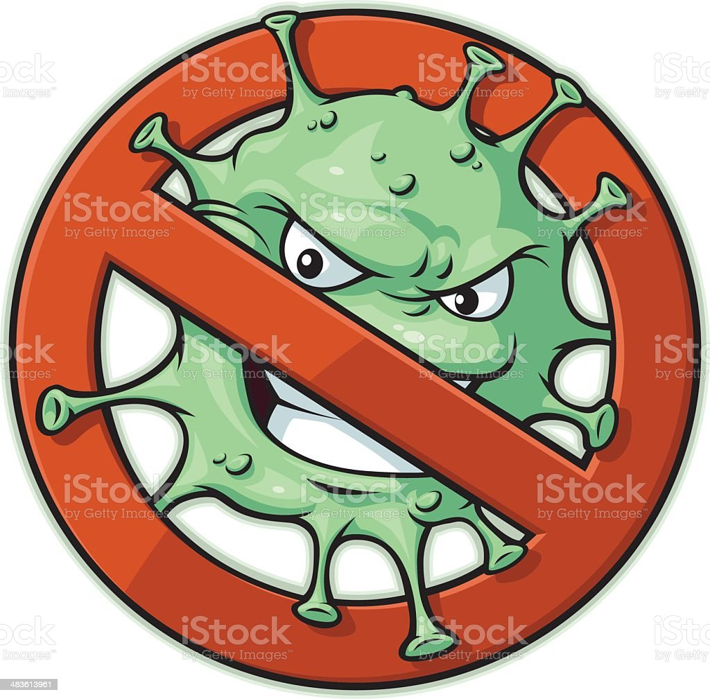 Biohazard Mascot V2 royalty-free stock vector art