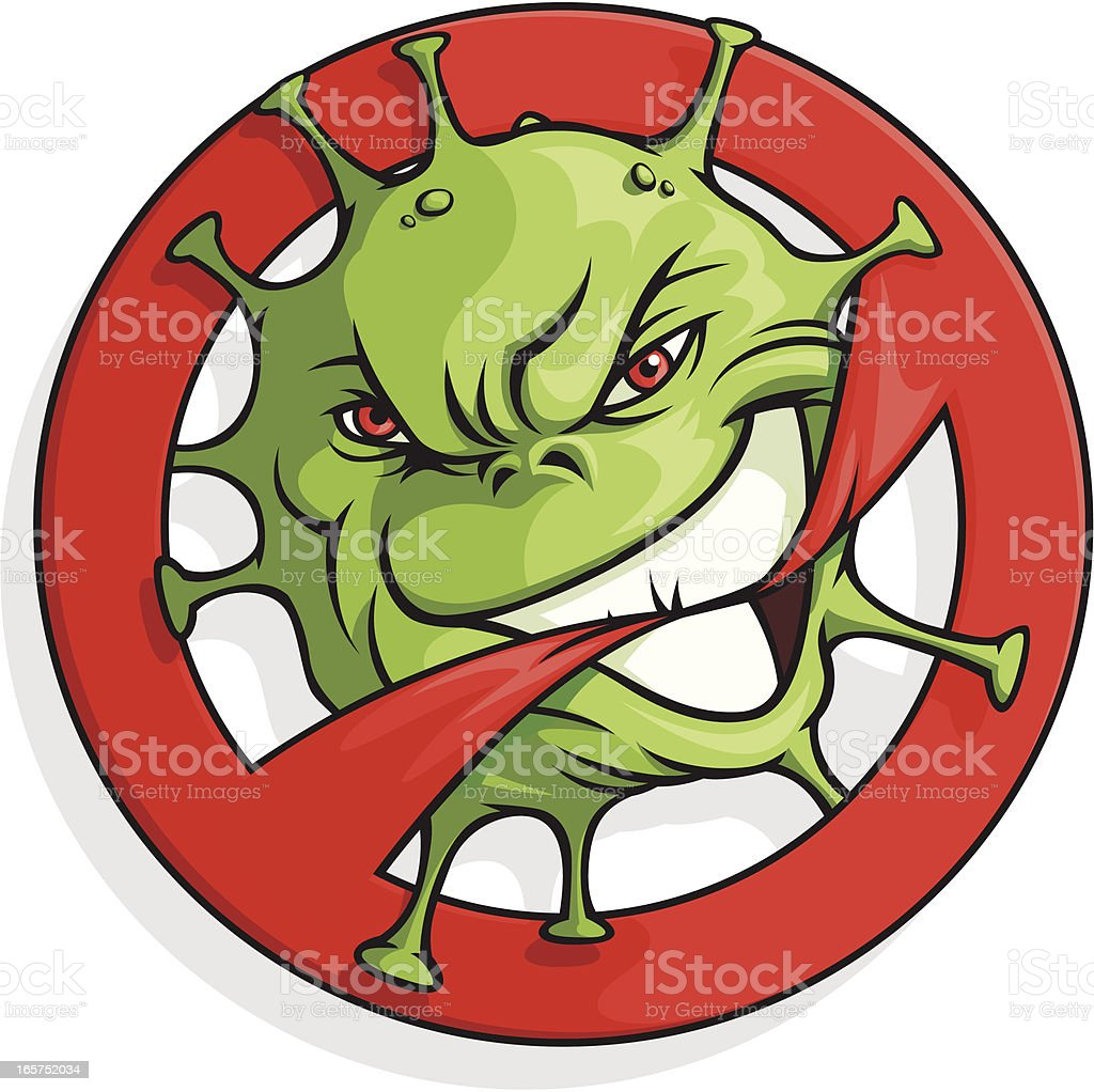 Biohazard Mascot vector art illustration