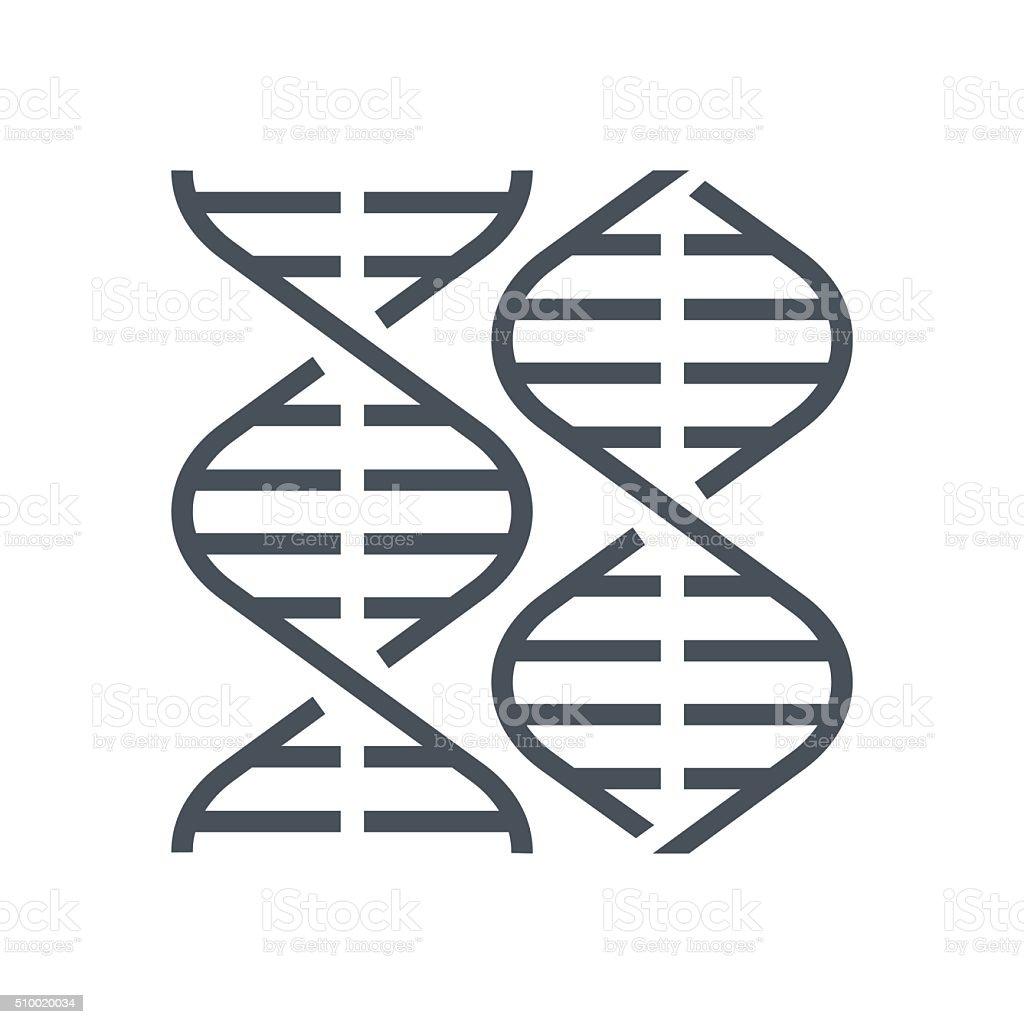 Biology, gene icon vector art illustration