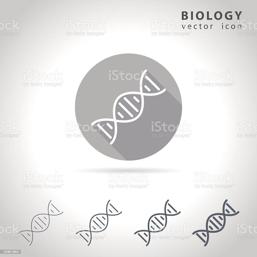 Biology outline icon vector art illustration