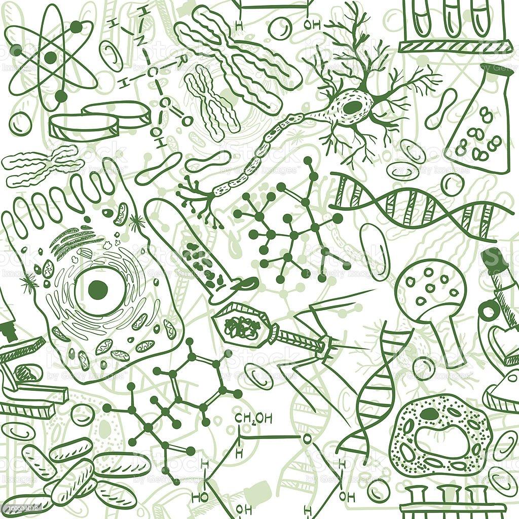 Biology seamless pattern royalty-free stock vector art