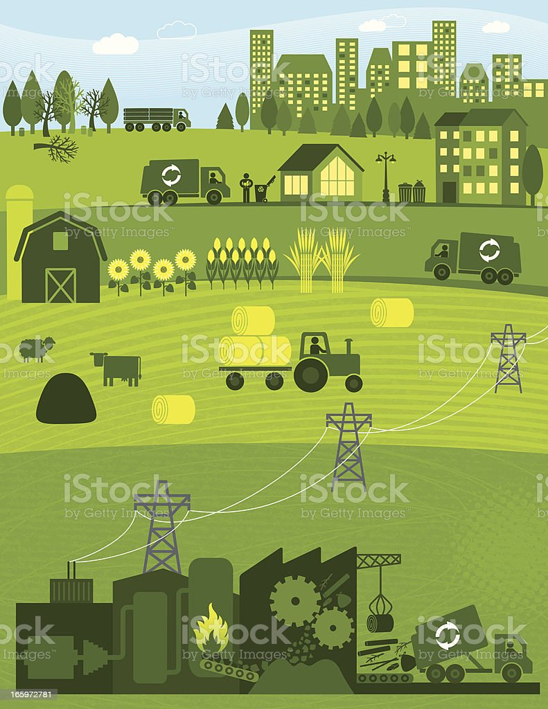Biomass royalty-free stock vector art