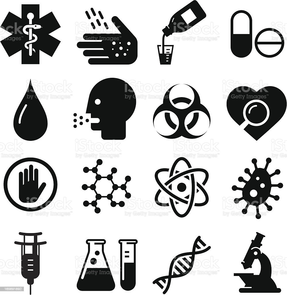 BioMedical Icons - Black Series vector art illustration