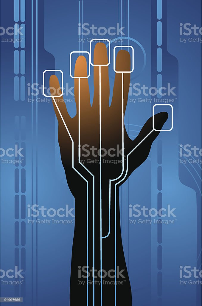 Biometry royalty-free stock vector art