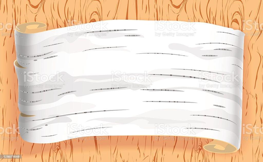 birch bark vector art illustration