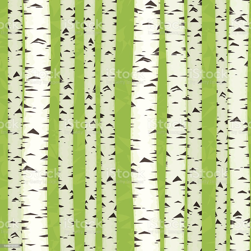 Birch Stems  seamless, royalty-free stock vector art