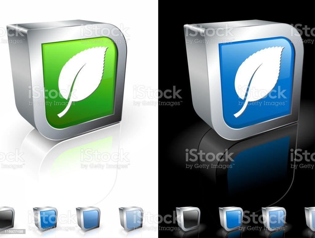 birch tree leaf 3D royalty free vector art royalty-free stock vector art