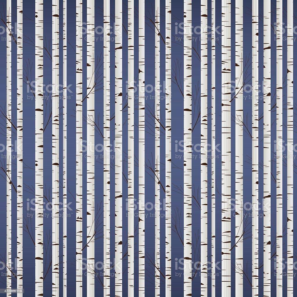 Birch wood pattern vector art illustration