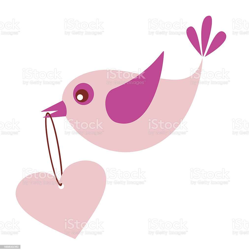 Bird and heart royalty-free stock vector art