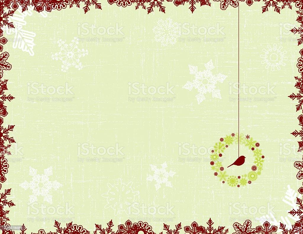 bird and wreath vector christmas card royalty-free stock vector art