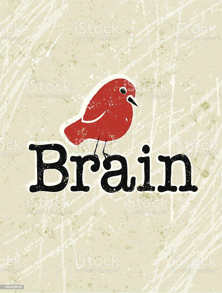 Bird Brain Text royalty-free stock vector art